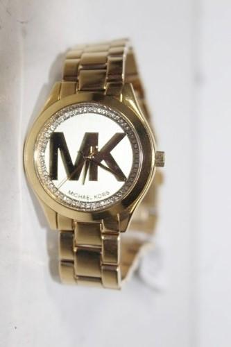New Michael Kors 'Runway' signature MK gold watch
