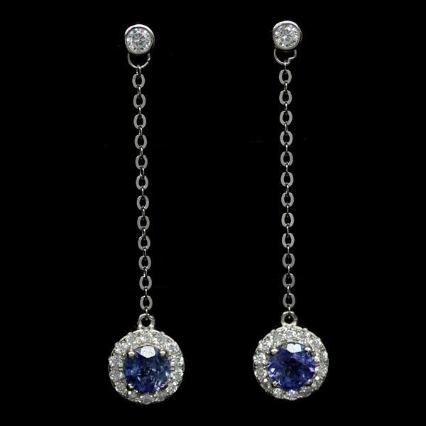 Beautiful Genuine Tanzanite Drop Earrings