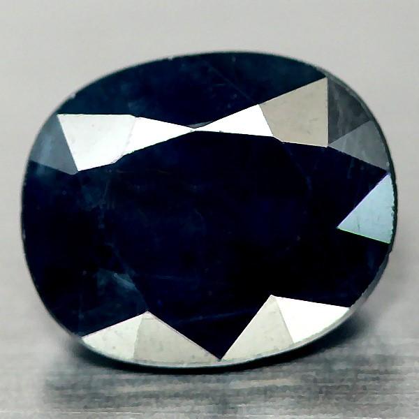 2.68ct. Genuine Oval facet Deep Blue Sapphire