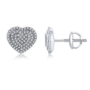 9ct White Gold, 0.23ct Diamond Earrings