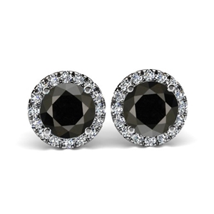 18ct White Gold, 4.50ct Diamond Earring