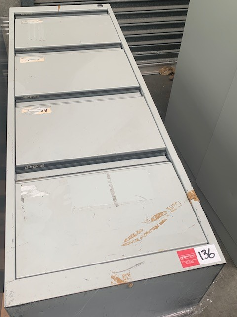 Qty 1 x Statewide Steel 4 x Drawer Filing Cabinets
