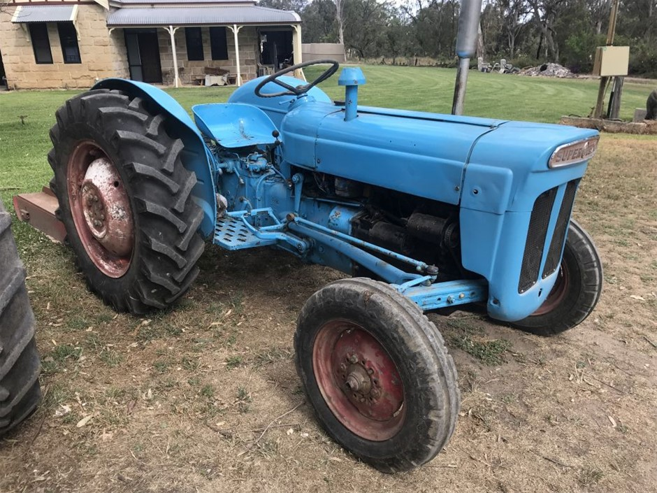Tractor Ford Super Dexta with Slasher,