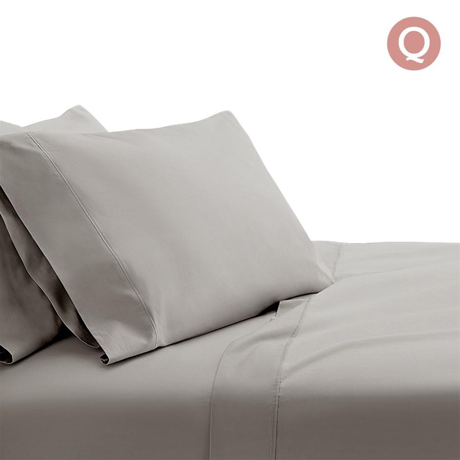 Giselle Bedding Queen Size 1000TC Bedsheet Set - Grey