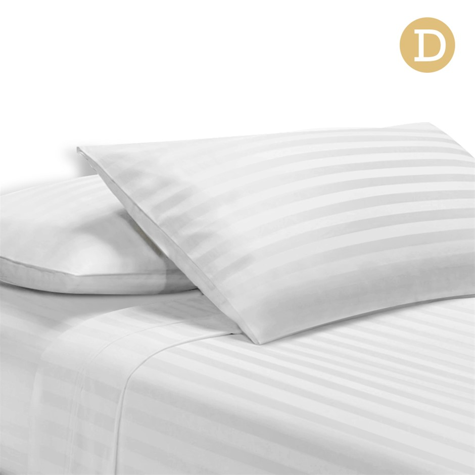 Giselle Bedding Double Size 4 Piece Bedsheet Set - White