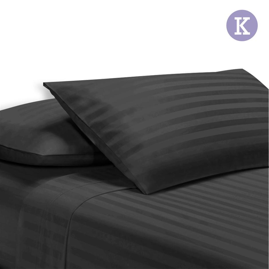 Giselle Bedding King Size 4 Piece Bedsheet Set - Black