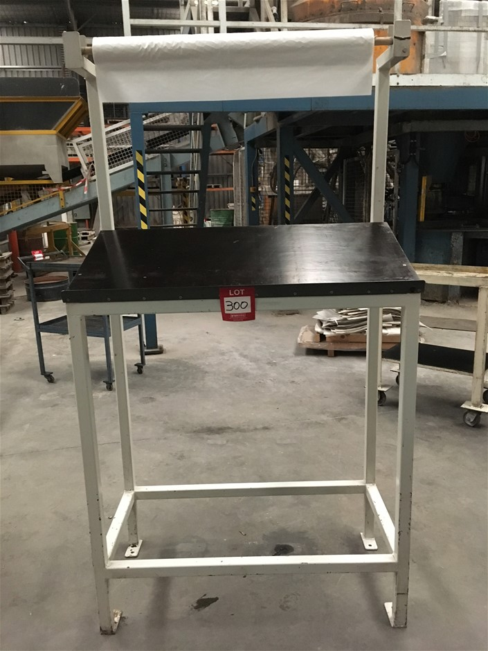 Inclined Dispatch Writing Table and Roll Holder (1870H x 1000W x 500D)