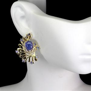 Beautiful Unique Genuine Tanzanite Earri