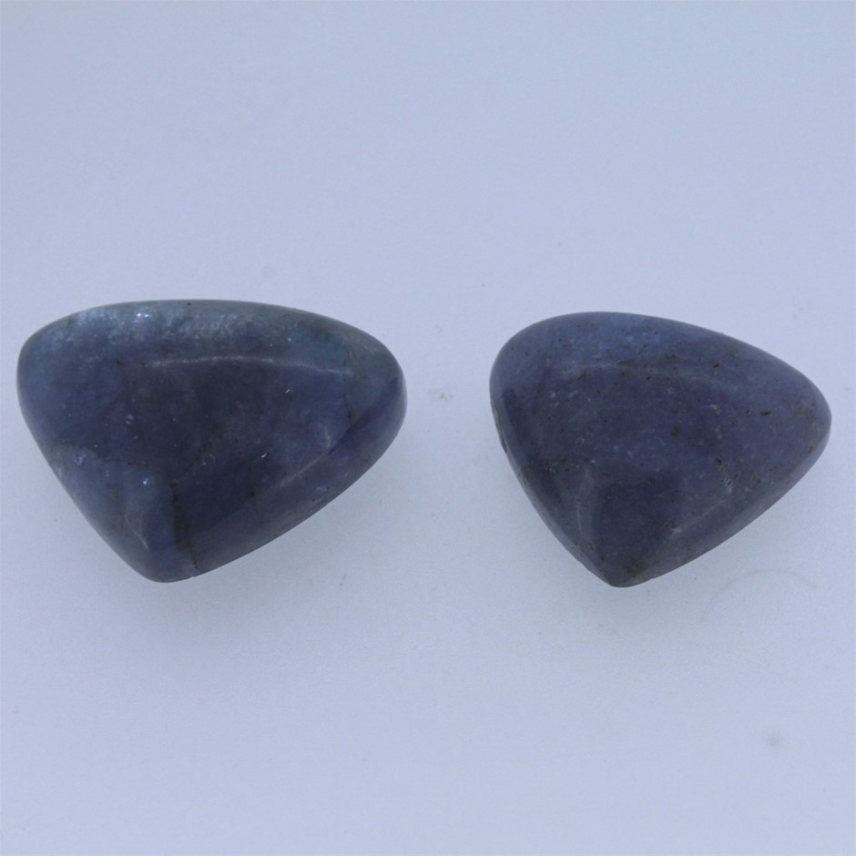 Two Loose Tanzanite, 77.00ct in Total