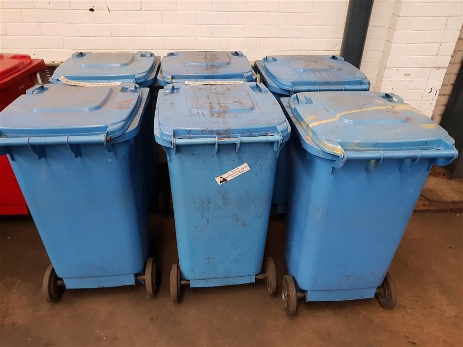 Qty 4 Blue SOLO Garbage Bins