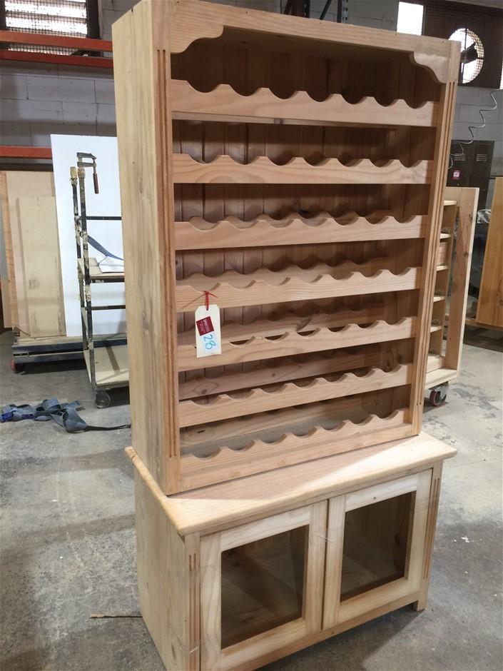 One Set Unfinished Wine Rack 600h/930w/450d 1180h/880w/320d Lo