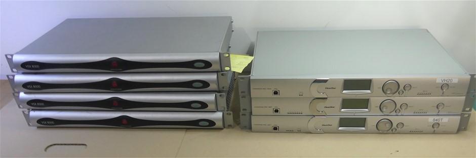 Box of Assorted Telecommunications system 4 x Polycom VSX 8000