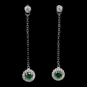 Genuine Emerald Drop earrings.