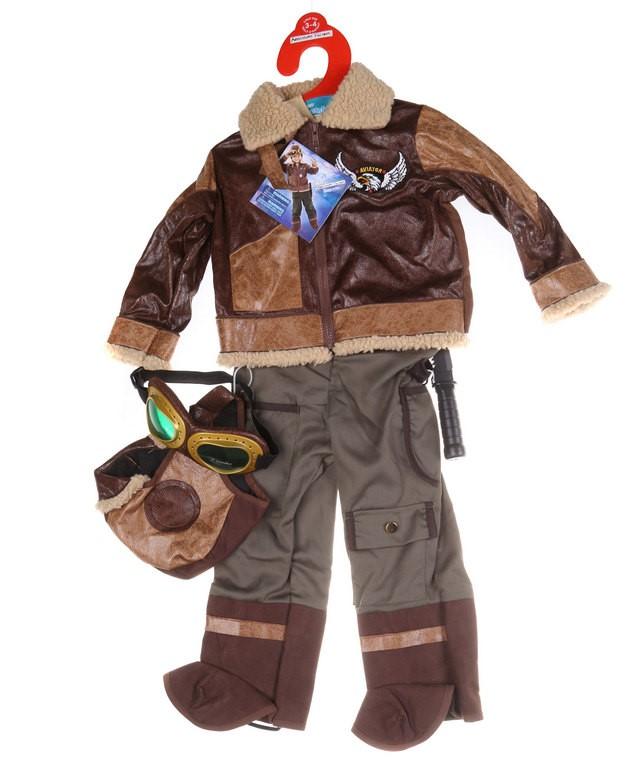 ADVENTURE FACTORY Children`s (Boys) Aviator Costume, Size 3-4. Buyers Note