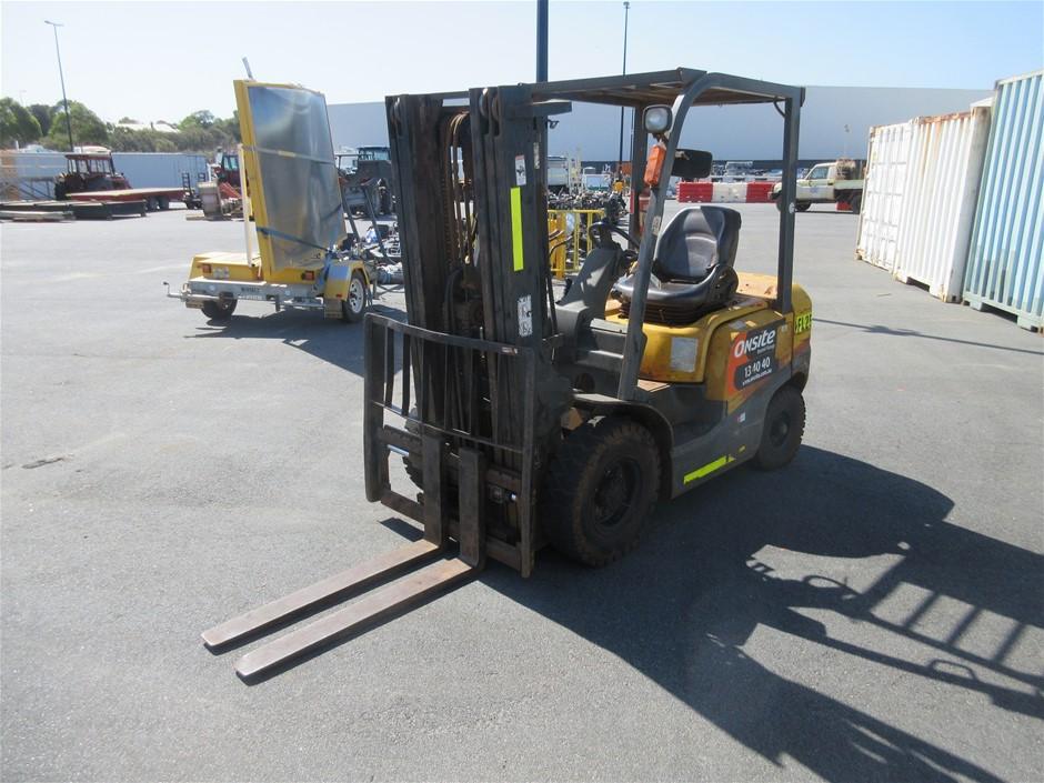2008 TCM FD-25T-3 2.5T 3.0m Diesel Forklift (Location: Jandakot)