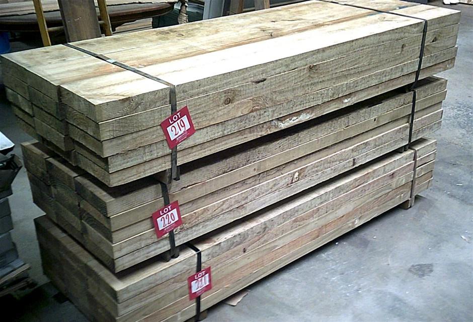 Pack of 15 units 200mm x 50mm H4 Treated Pine Sleepers.