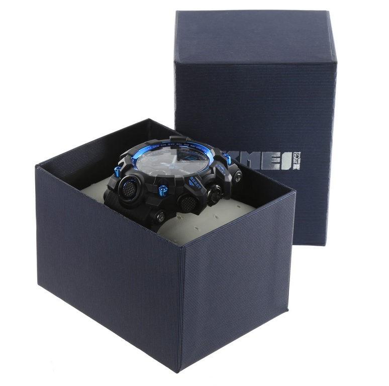 SKMEI Men`s Digital Wrist Watch, PU Band, 55mm Dial Width, Water Resistant
