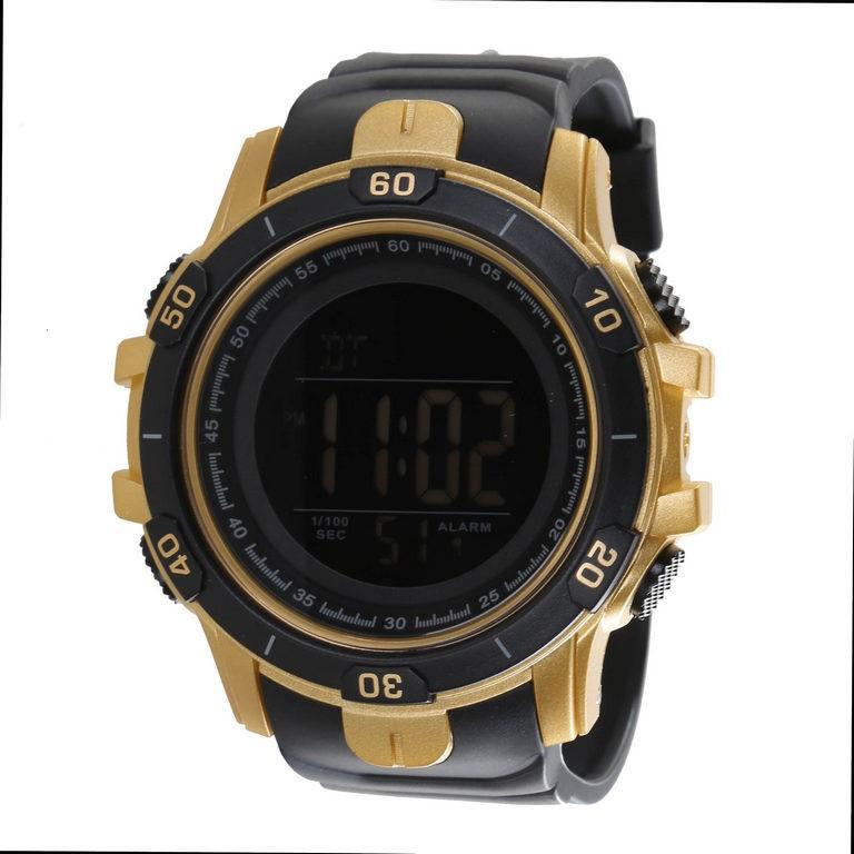 SKMEI Men`s Digital Wrist Watch with PU Band, 57mm Dial Width, Water Resist
