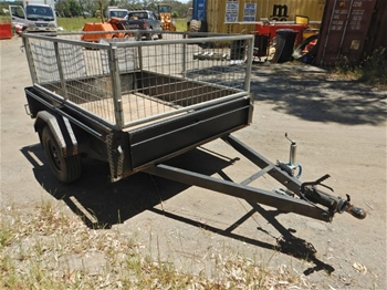 2016 United Single Axel 7x5 Cage Trailer