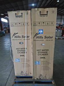 Qty 2 Hills Solar/Gas Hot Water Storage