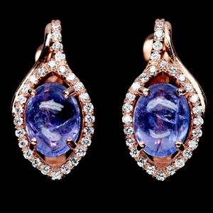 Genuine Tanzanite Huggie Earrings