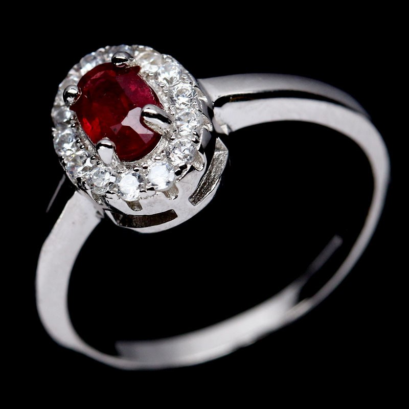 Beautiful Genuine Ruby Solitaire Ring