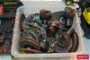 Tub of assorted used Wire Cup Brushes and Grinding Disks
