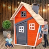 Keezi Kids Cubby House Wooden Outdoor Playhouse Children's Toys Party Gift