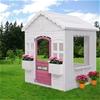 Keezi Kids Wooden Cubby House w/ Floor Outdoor Children's Pretend Play