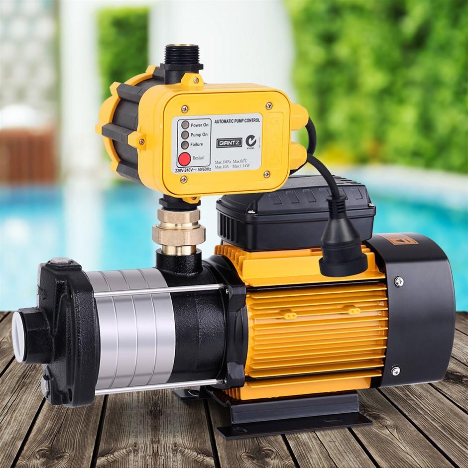 Giantz Multi Stage Water Pump Pressure Rain Tank Garden 2000W Yellow