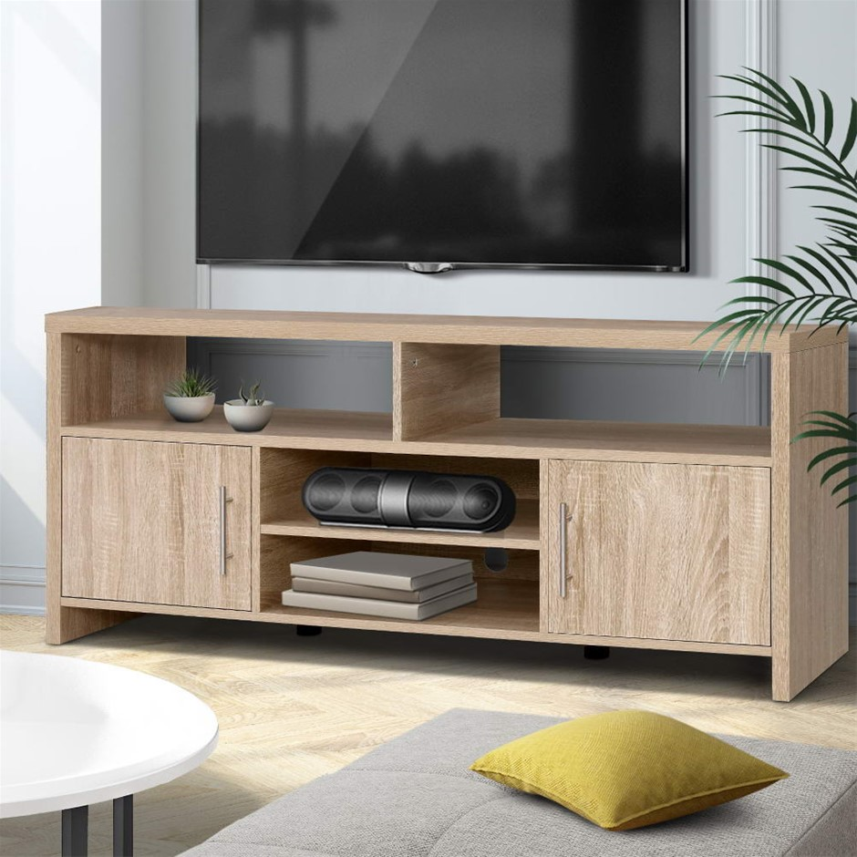 Artiss TV Cabinet Entertainment Unit Stand Storage Sideboard 140cm Oak