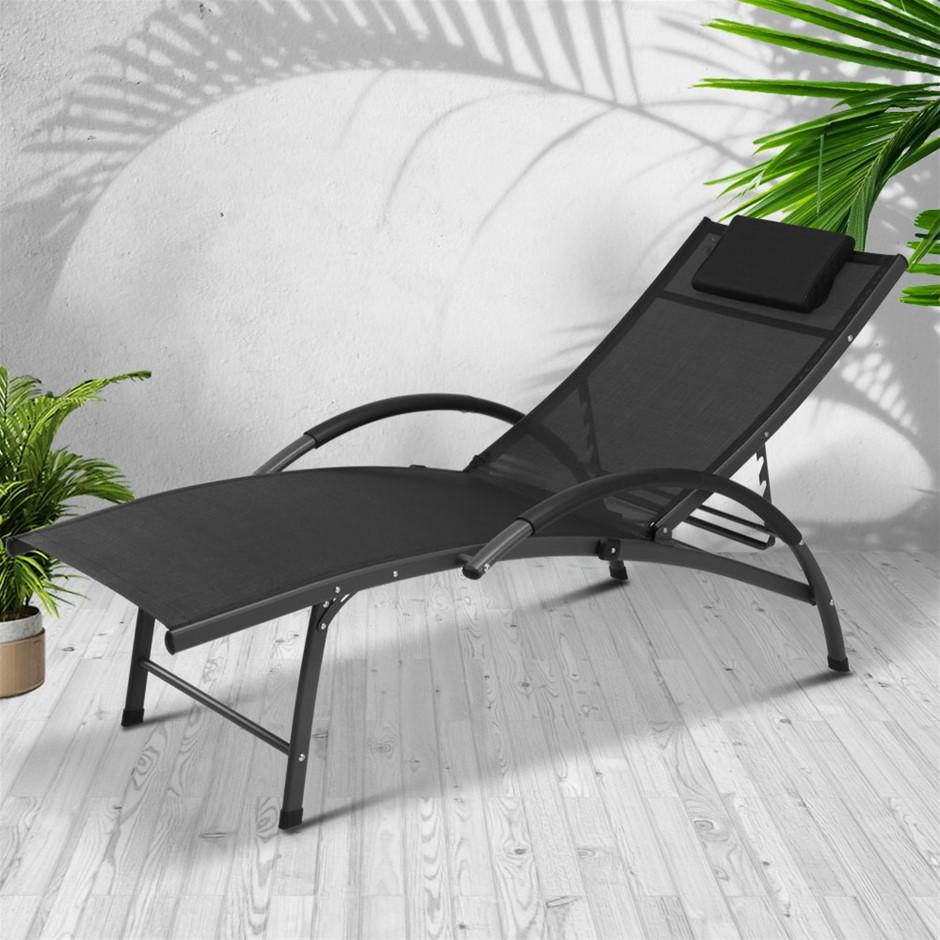 Gardeon Outdoor Sun Lounge Beach Chair Folding Recliner Patio Furniture