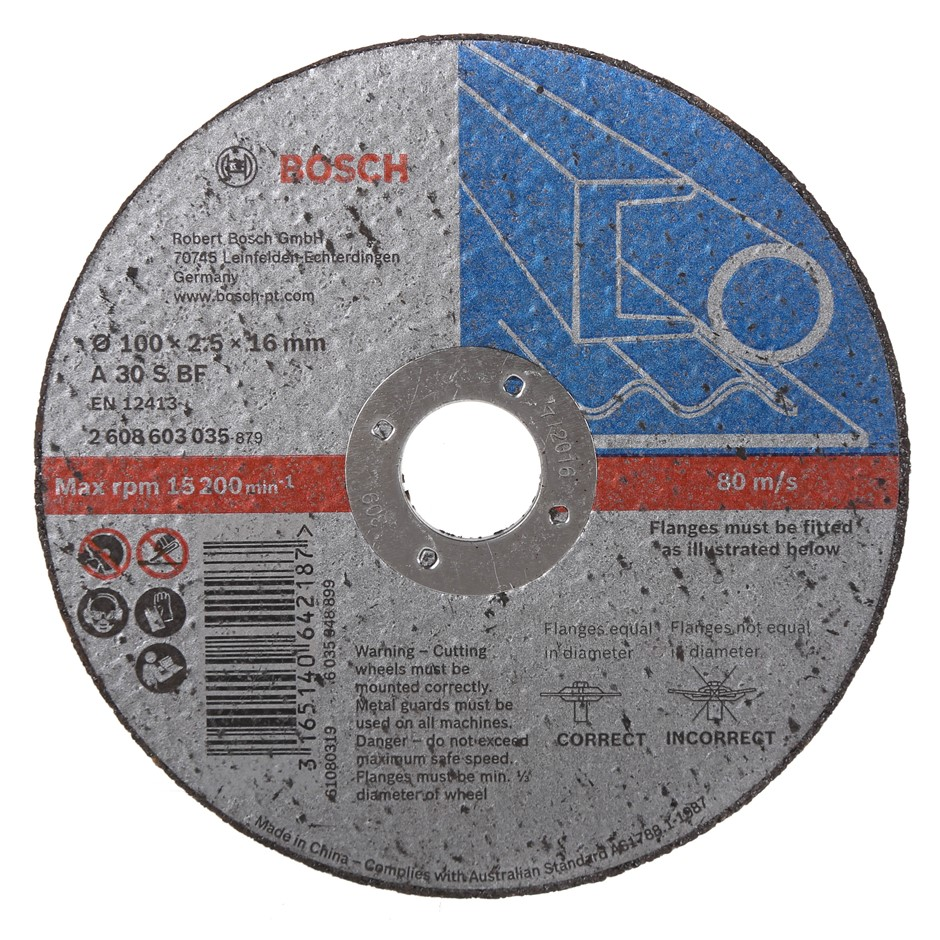 8 x BOSCH Cutting Discs 100 x 2.6 x 16mm. Buyers Note - Discount Freight Ra