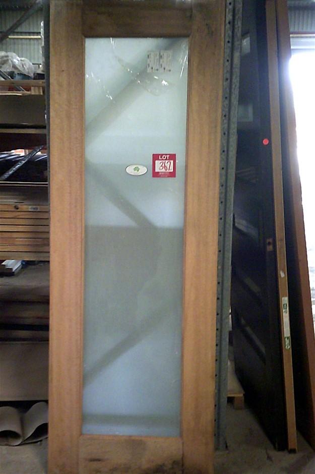 2020mm x 775mm x 35mm Entance Door. White trtanslucent glass.