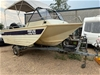 07/2007 Stessl 4.6m Trihullin Alloy Boat on Trailer