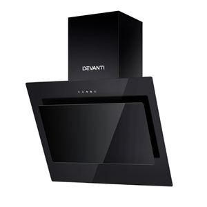 DEVANTI Rangehood 600mm Black Angled Sid