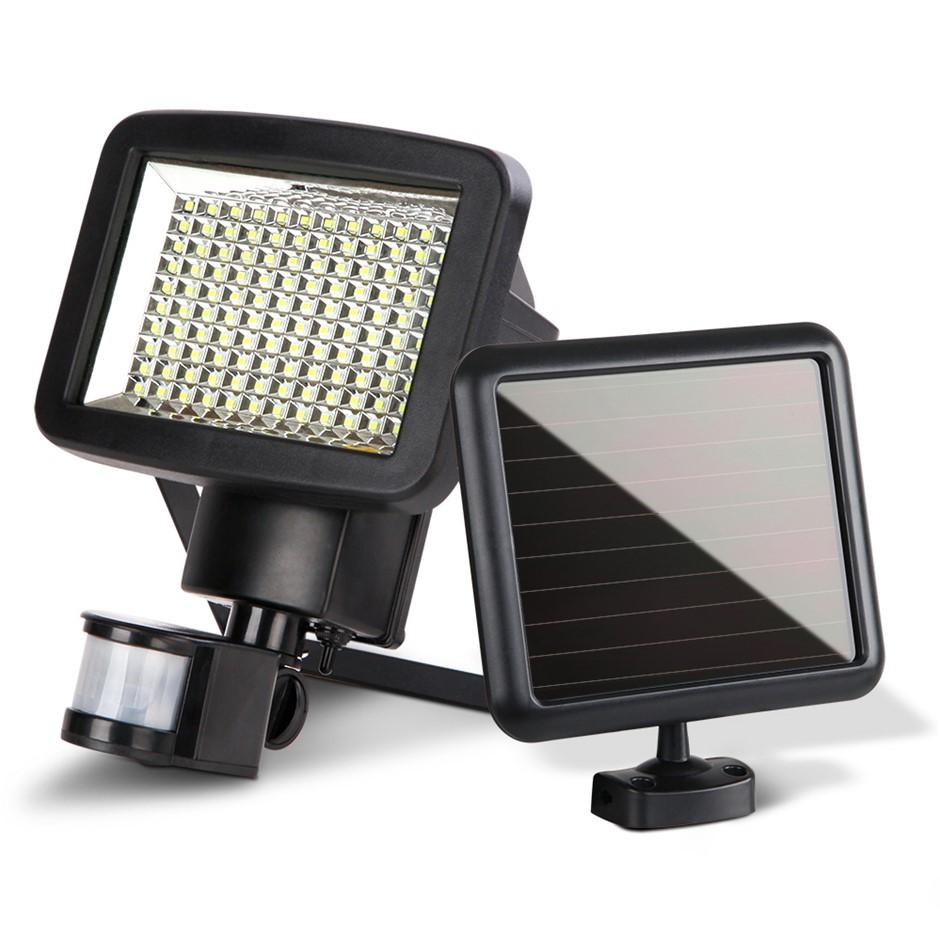 Set of 2 120 LED Solar Sensor Light Outdoor Security Floodlights Motion
