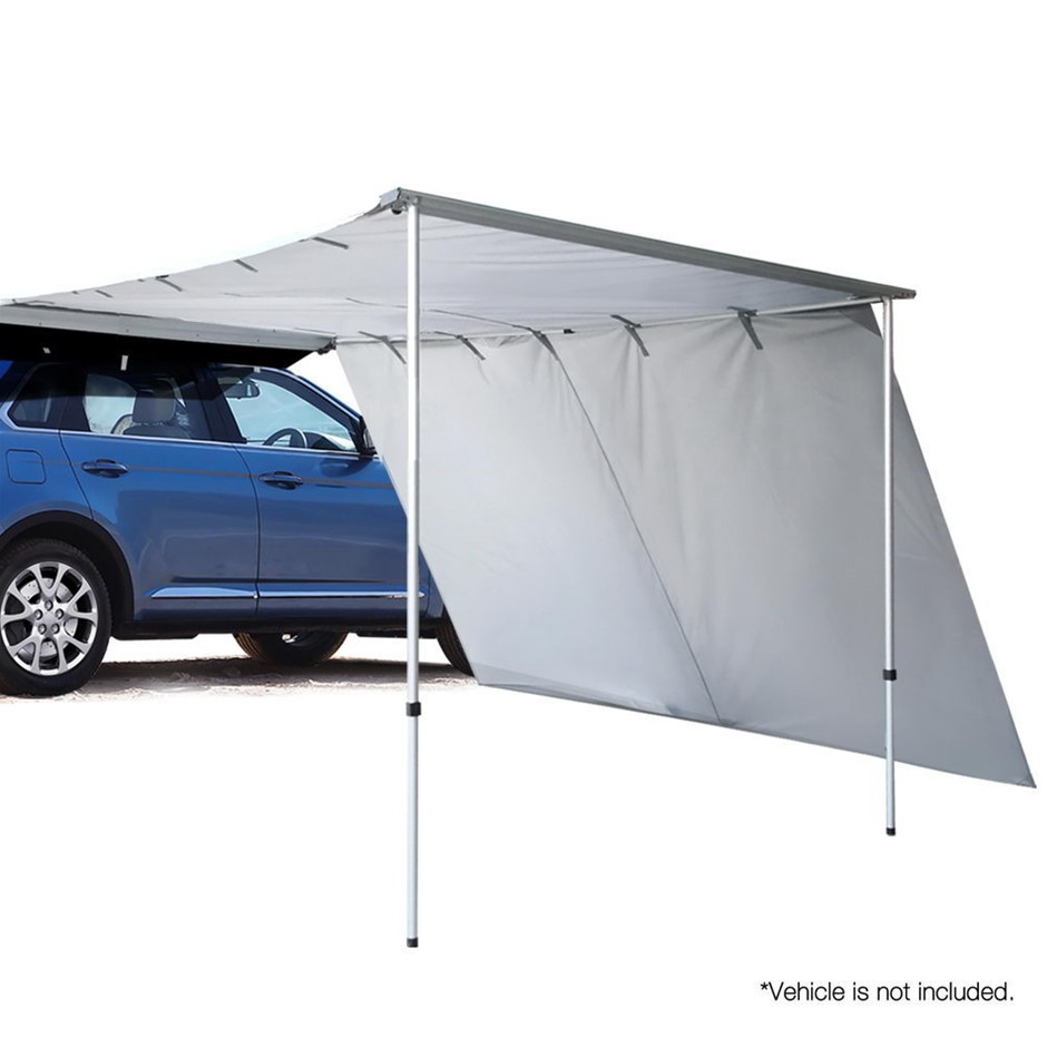 Weisshorn 2M X 3M Car Side Awning Roof Rack Tents Shades 4X4 4WD Grey
