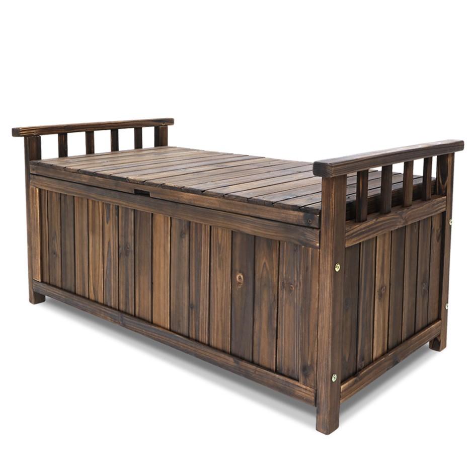 Gardeon Outdoor Storage Box Wooden Garden Bench Chest Toy Tool Sheds