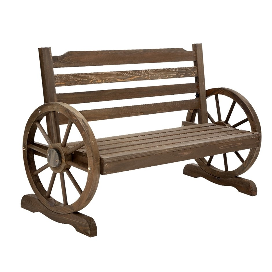 Gardeon Park Bench Wooden Wagon Chair Outdoor Garden Backyard Lounge