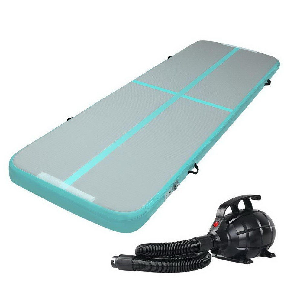 Everfit GoFun 3X1M Inflatable Air Track Mat, Pump Tumbling Gymnastics Green