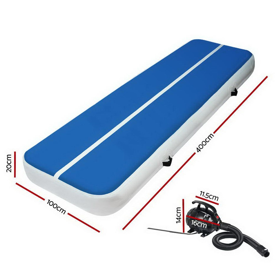 Everfit GoFun 4MX1M Inflatable Air Track Mat Tumbling Floor Home Gymnastics