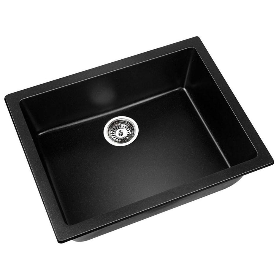 Cefito 610 x 470mm Granite Sink - Black