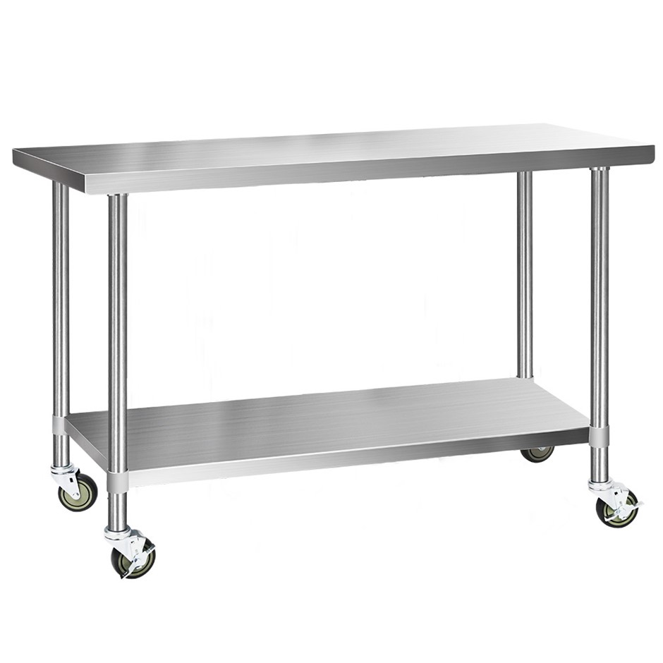 Cefito 1524x610mm Commercial 304 Stainless Steel Bench