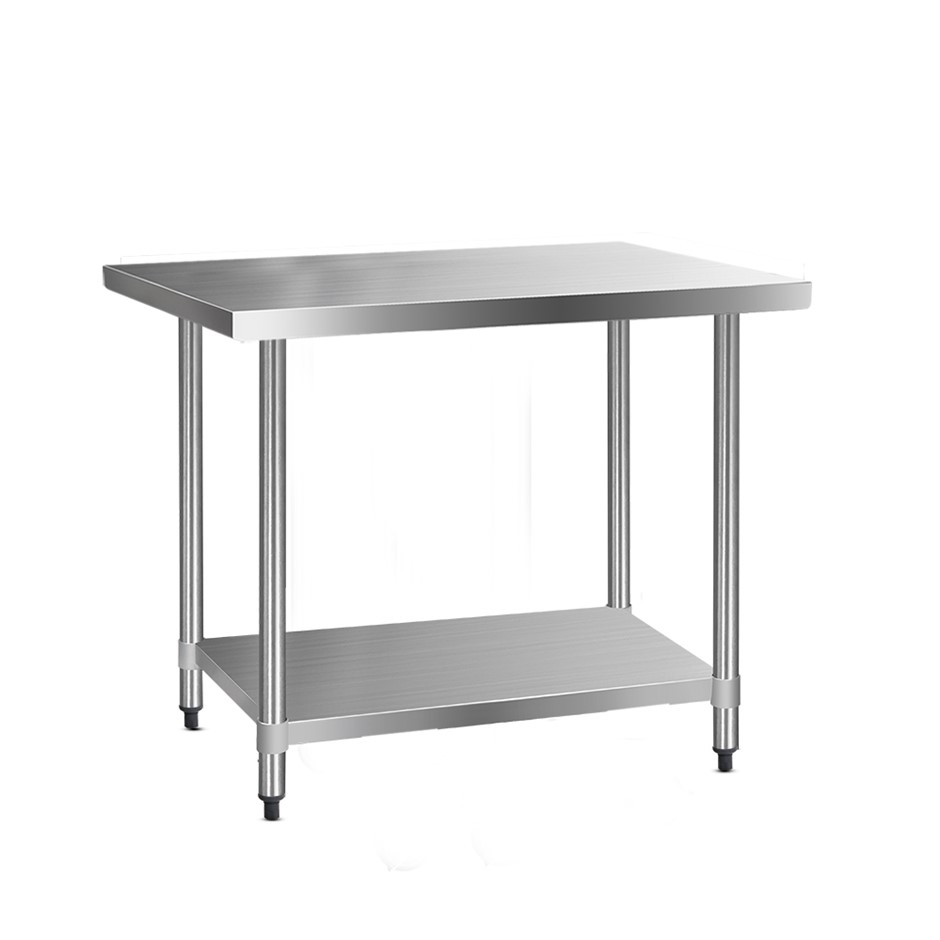Cefito 1219x760mm Commercial Stainless Steel Kitchen Bench 430 Food Prep