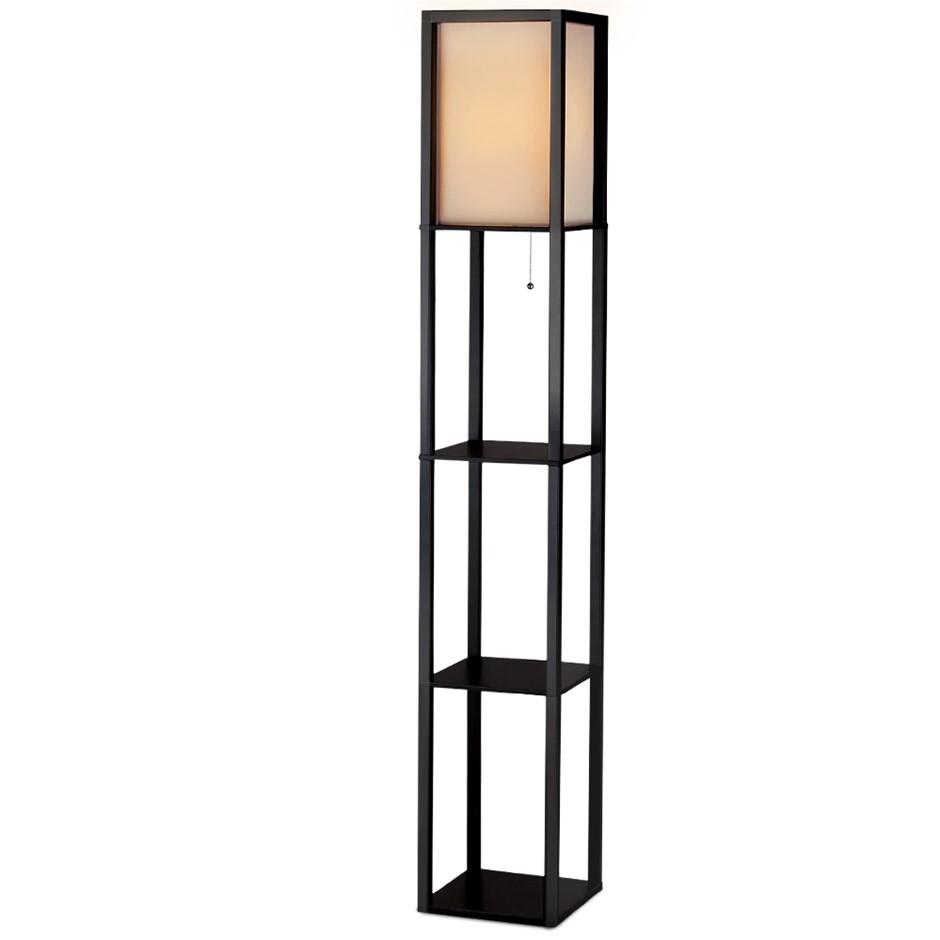 Artiss Led Floor Lamp Shelf Vintage Wood Standing Light Reading