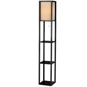 Artiss Led Floor Lamp Shelf Vintage Wood