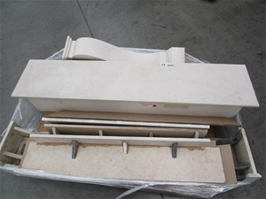 Assorted Marble Fireplace Components