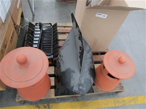 Assorted Fireplace Chimney Components