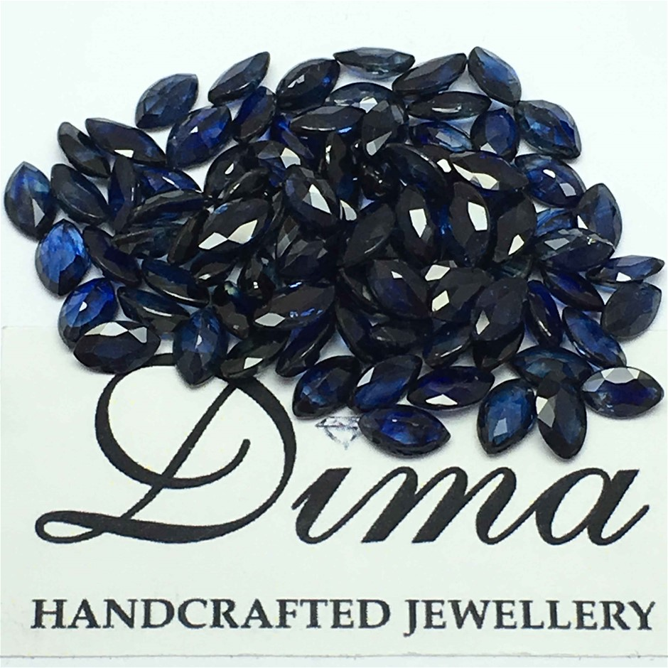 Parcel of Loose Blue Sapphire, 22.13ct in Total